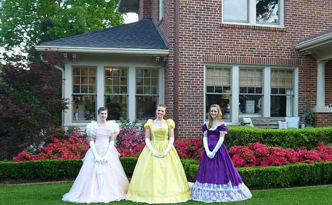 Azalea belles during the Azalea Festival in Tyler