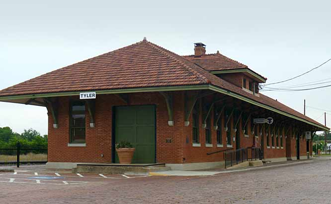 Historic train station in Tyler